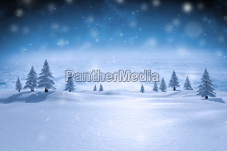 composite obraz sniezny krajobraz